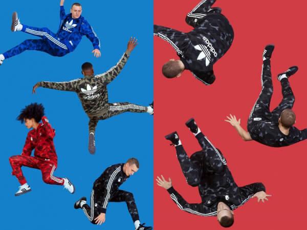 global adidas originals x bape camo merch launches brand new