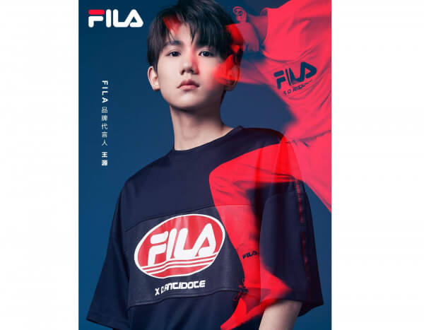 CN|FILA Brand New Spokesperson Roy Wang from TFBOYS in a Limited ... 4d3bea98d9