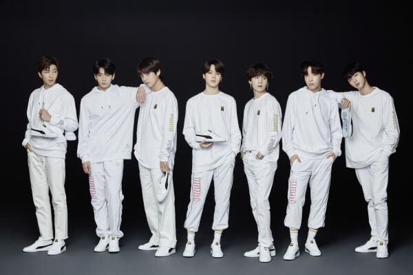 fbe46848805 PUMA and Korean hip-hop male idol group, BTS has teamed up to release their  second round of sneakers -- Basket Patent BTS on August 31.