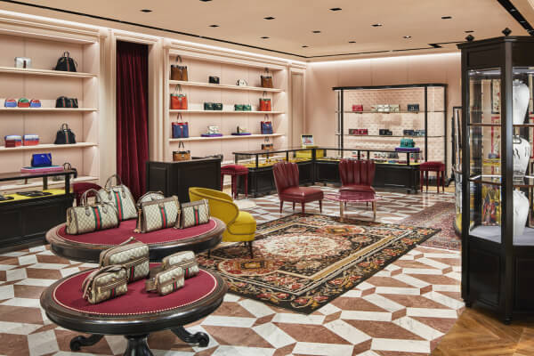 Japan gucci aoyama renewal staged by alessandro michele business gucci has fully renovated the aoyamas flagship shop greeting people with its grand opening today the new interior is constructed under a design concept m4hsunfo