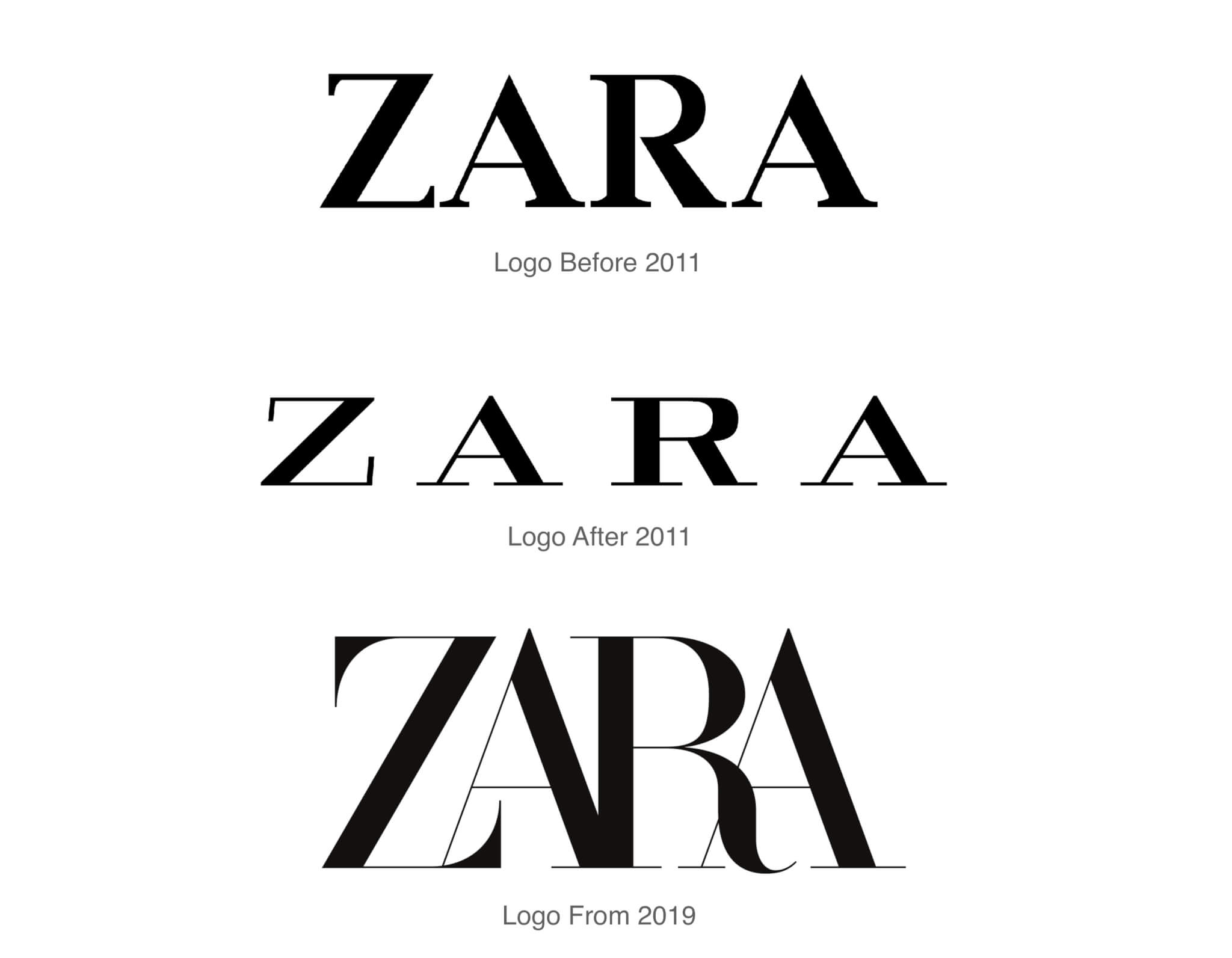 Image result for zara logo change